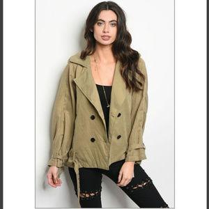 Jackets & Blazers - 🚦Left🏷Vintage look Khaki green jacket Deadstock